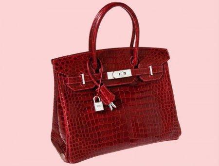 Самой дорогой сумкой в мире стала красная сумка Hermes Birkin